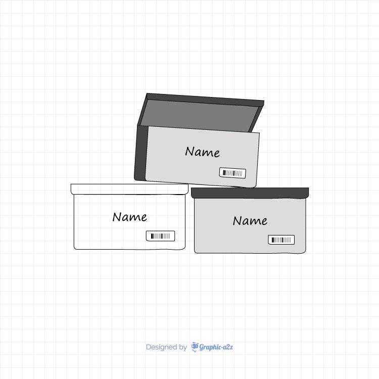 Stak Sneaker Box vector design