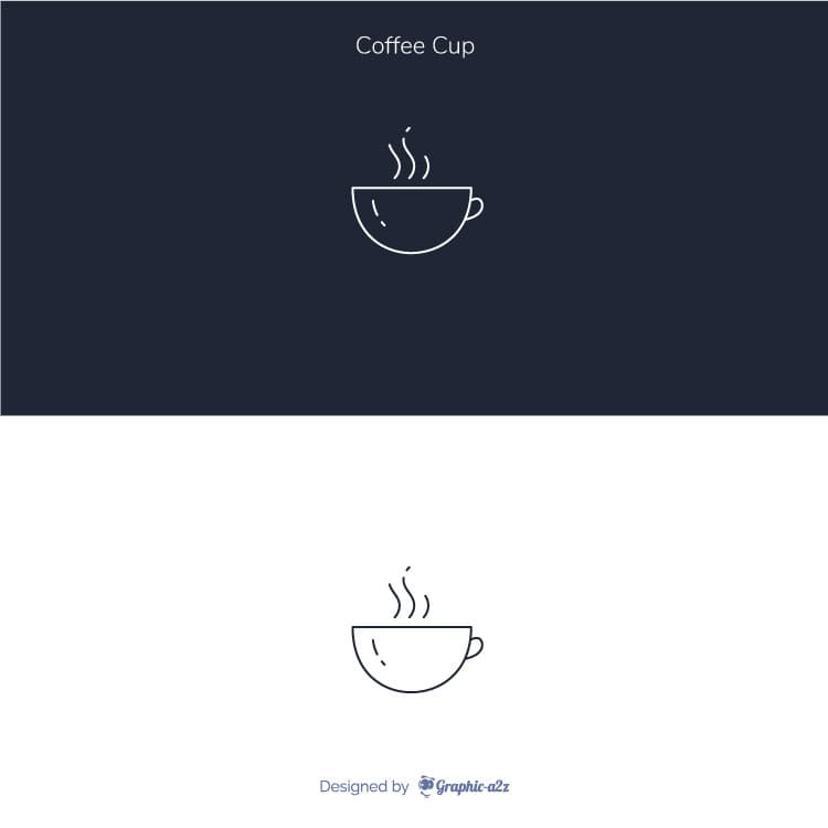 Lineal Coffee Cup Vector Icon design