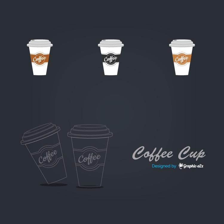 Lineal Color Coffee Cup Vector Icon design