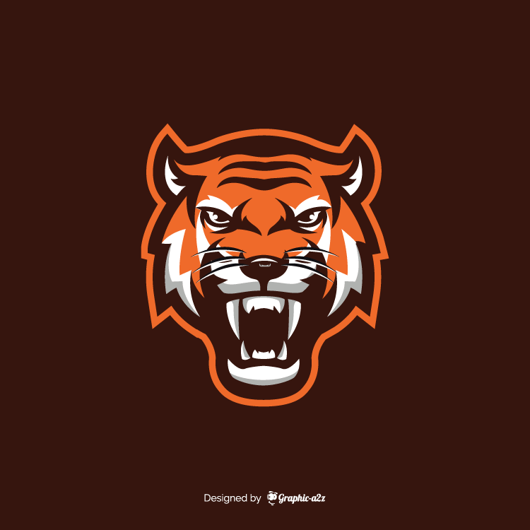 Tiger vector design for logo on Grahic-a2z