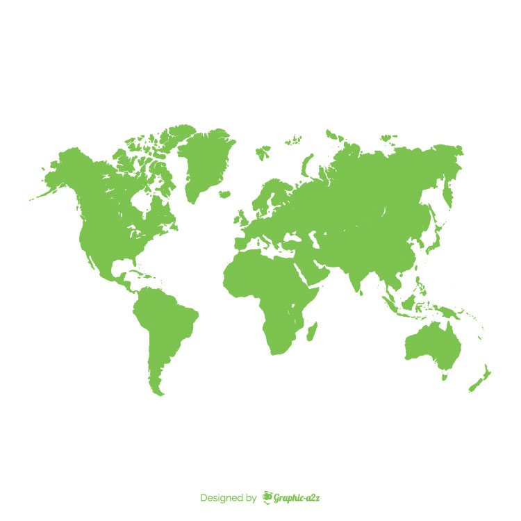 World map green template on graphica2z