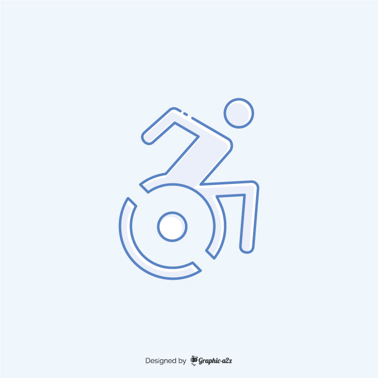 Accessible icon vector design