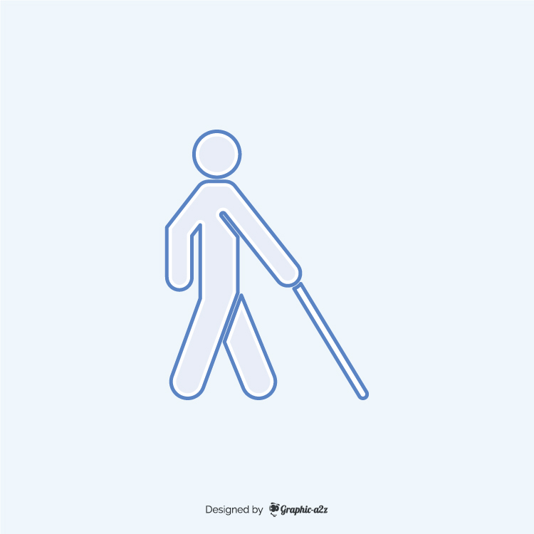 Blind blue free vector icon