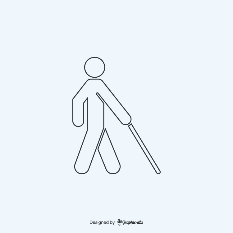 Blind lineal free vector icon