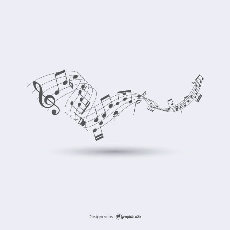 Abstract musical background, Music element design