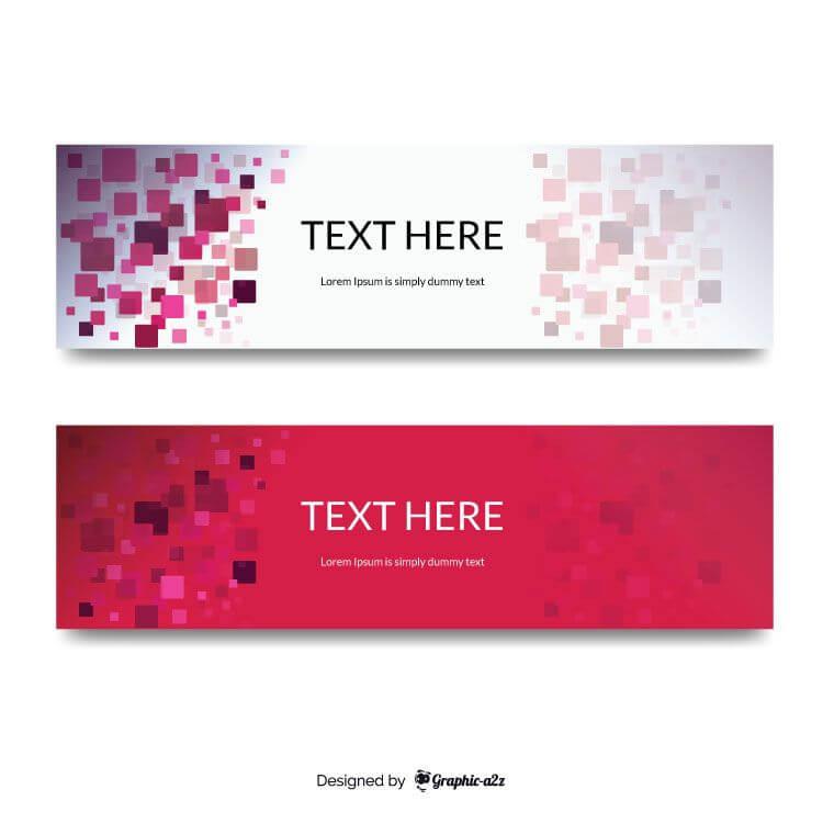 Squared background banner vector design