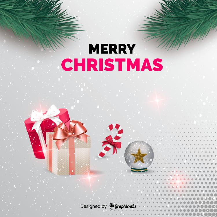 Merry Christmas creative background