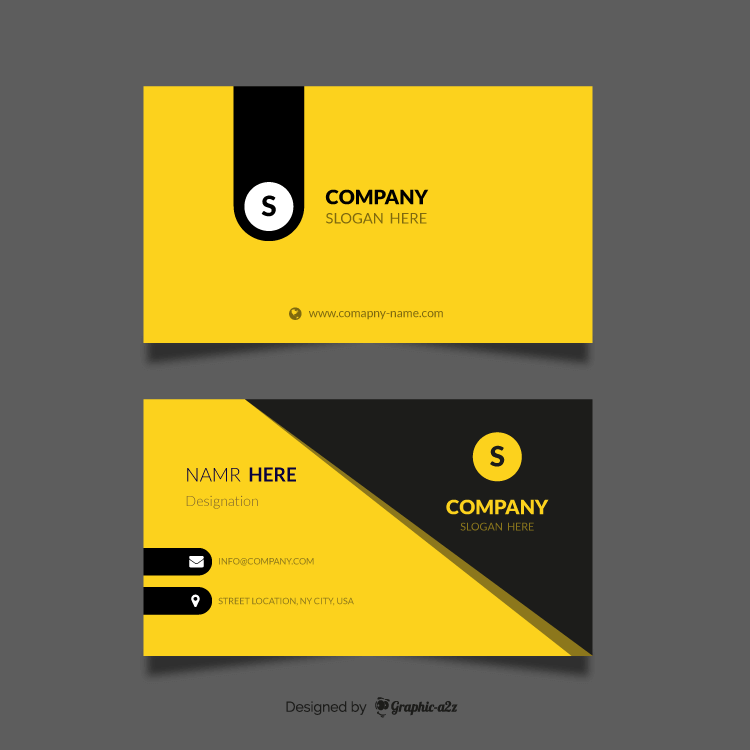 Professional business card mockup on Graphica2z