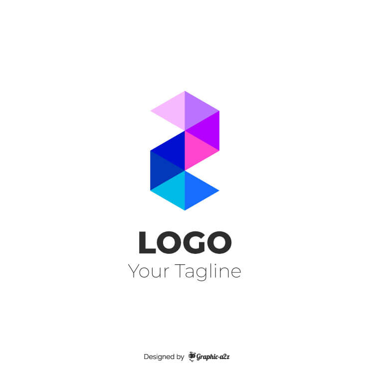 Abstract modern logo free vector on graphica2z
