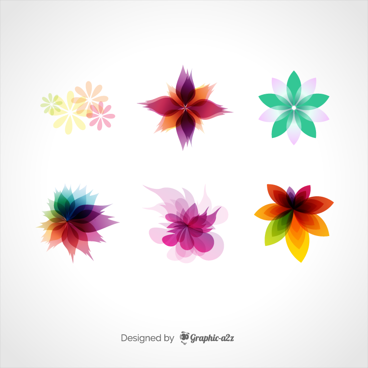 Retro floral ornaments vector on Graphica2z
