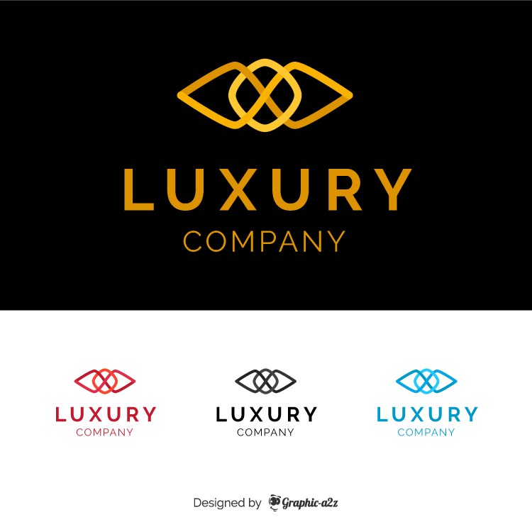 Luxury branding logo vector design on graphic a2z