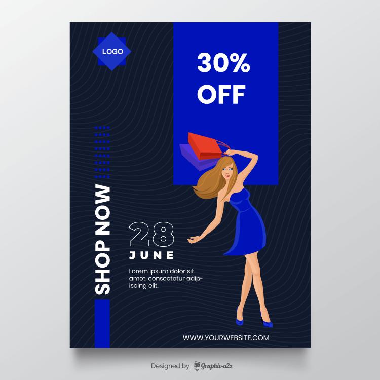 Flyer design for sale offer free vector