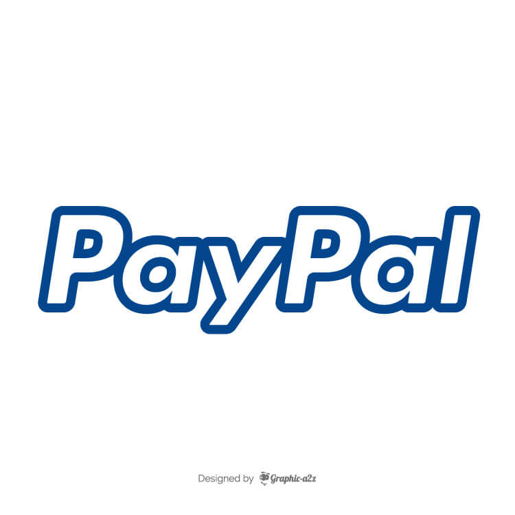 PayPal logo payment system vector graphic