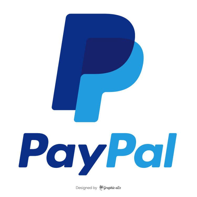 PayPal logo editorial stock photo. Illustration vector logo
